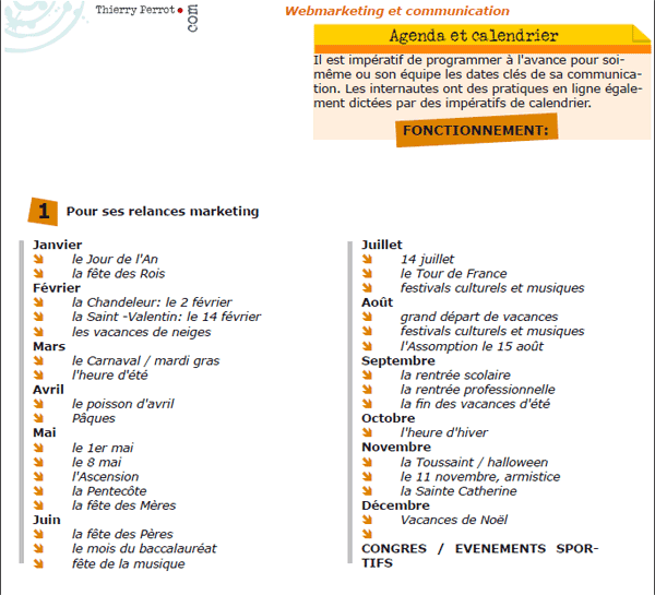Agenda web marketing Brest